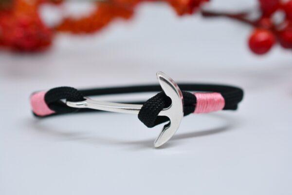 Schmuck für Männer und Frauen Paracord Armband schwarz