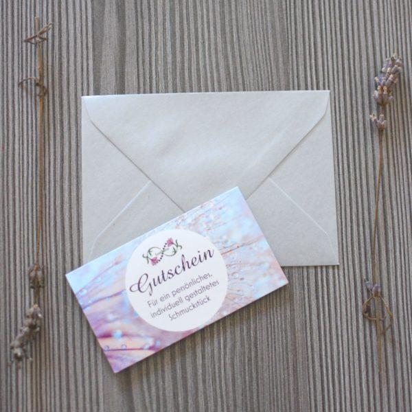 Geschenkgutscheine von Leafinity Gutschein für individuellen Schmuck