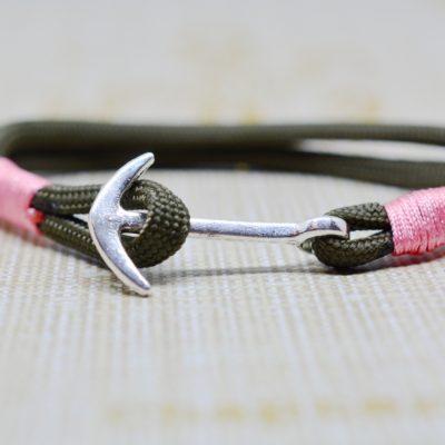 Schmuck für Männer und Frauen Paracord Armband braun oliv