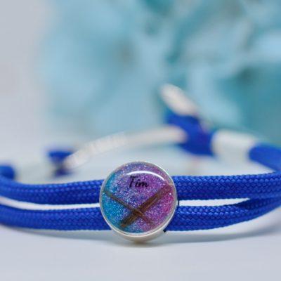 Schmuck für Männer und Frauen Paracord Armband blau