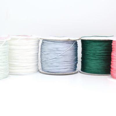 "Infinity Armband personalisiert ""YOUNIVERSE"" mit Anhänger von Leafinity dünnes Textilarmband mint weiß hellblau grün pink"